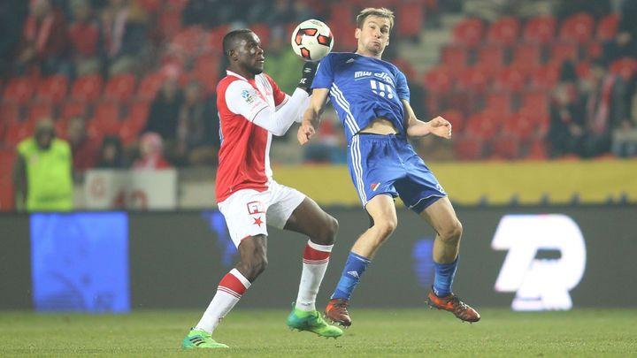 Baník proti Slavii v generálce na jaro dvakrát vedl, přesto po gólu Ngadeua prohrál