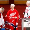 Legendy NHL Dickie Moore, Gordie Howe a Jean Beliveau