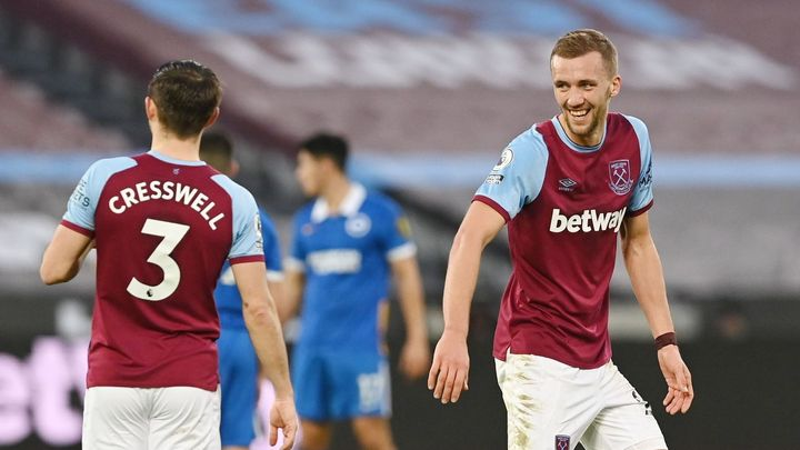 Souček trefil hlavičkou bod, West Ham musel proti Brightonu dvakrát dotahovat