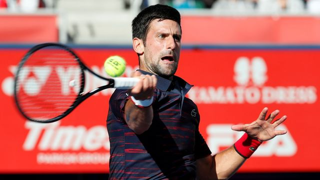 Tennis - Japan Open - Men's Singles - Quarter-Finals - Ariake Coliseum, Tokyo, Japan - October 4, 2019. Novak Djokovič of Serbia plays against