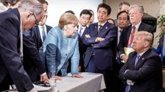 Trump Merkelová summit G7