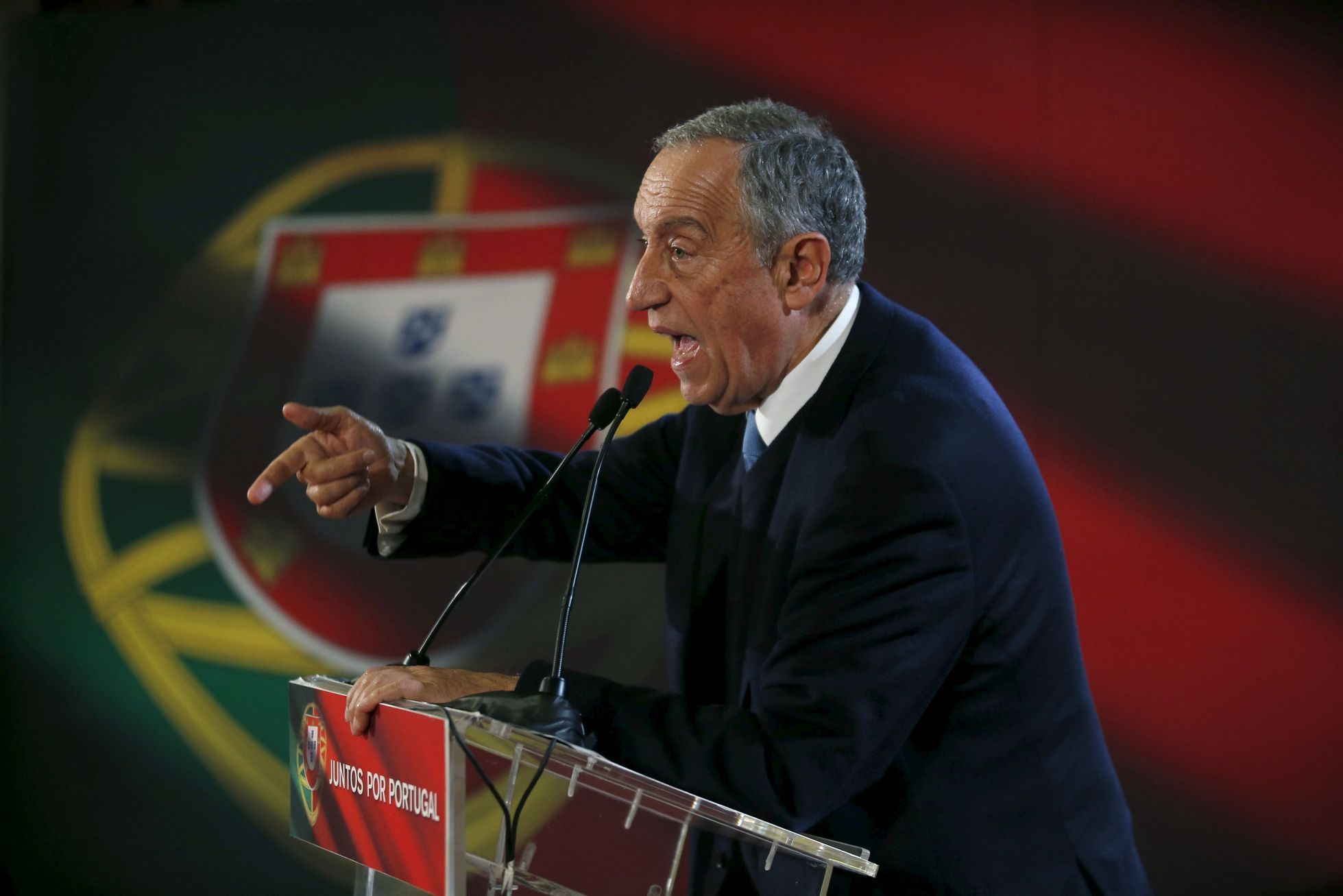Portugal's presidential candidate Marcelo Rebelo de Sousa attends an election campaign event in Lourinha