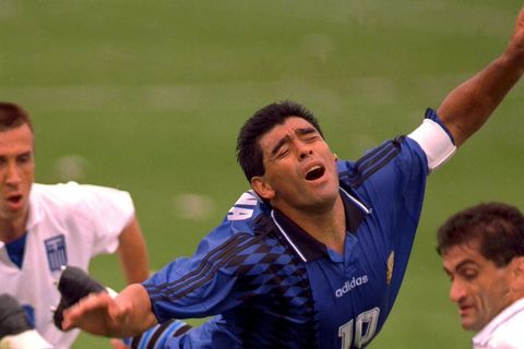 FILE PHOTO: 1994 FIFA World Cup - Group D - Argentina v Greece - Foxboro Stadium, Boston