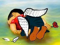 FOTO Umělci z celého světa truchlí nad utonulým chlapcem