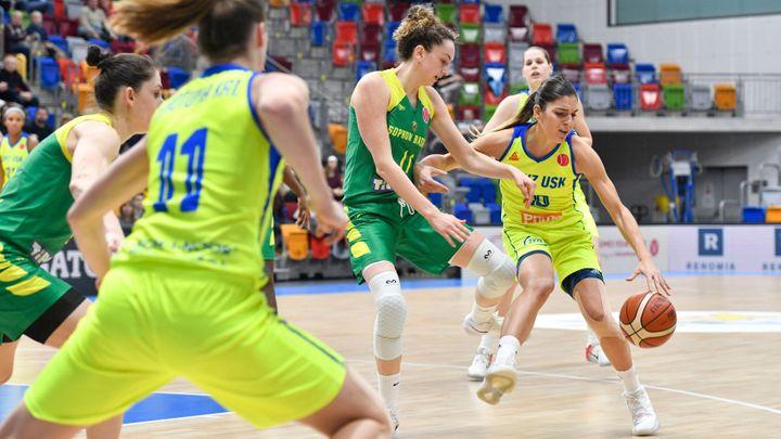 Basketbalistky USK na úvod čtvrtfinále v Rusku vysoko prohrály, v odvetě musí zvítězit