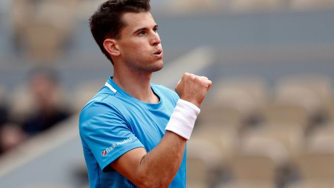 Dominic Thiem na French Open.