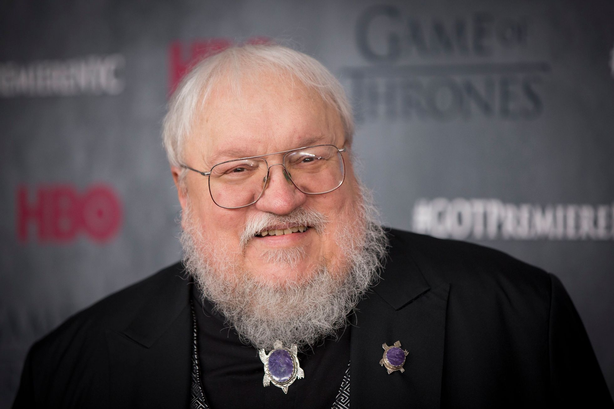 "Author and co-executive producer George R.R. Martin arrives for the premiere of the fourth season of HBO series ""Game of Thrones"" in New York"