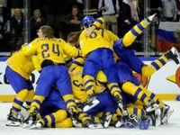 Švédský triumf i krásky v hledišti. Podívejte se na 50 nejlepších fotek hokejového šampionátu