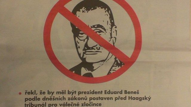 """Don't vote for Karel Schwarzenberg,"" said an ad published in the Blesk tabloid daily"