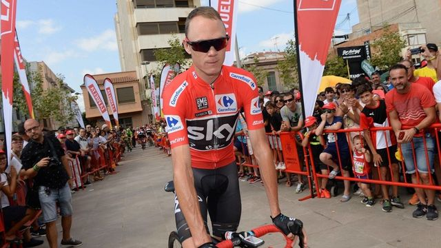 Chris Froome na Vueltě 2017