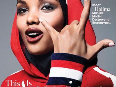 Muslimka mění módní historii, v hidžábu se dostala na titulní stranu časopisu Allure