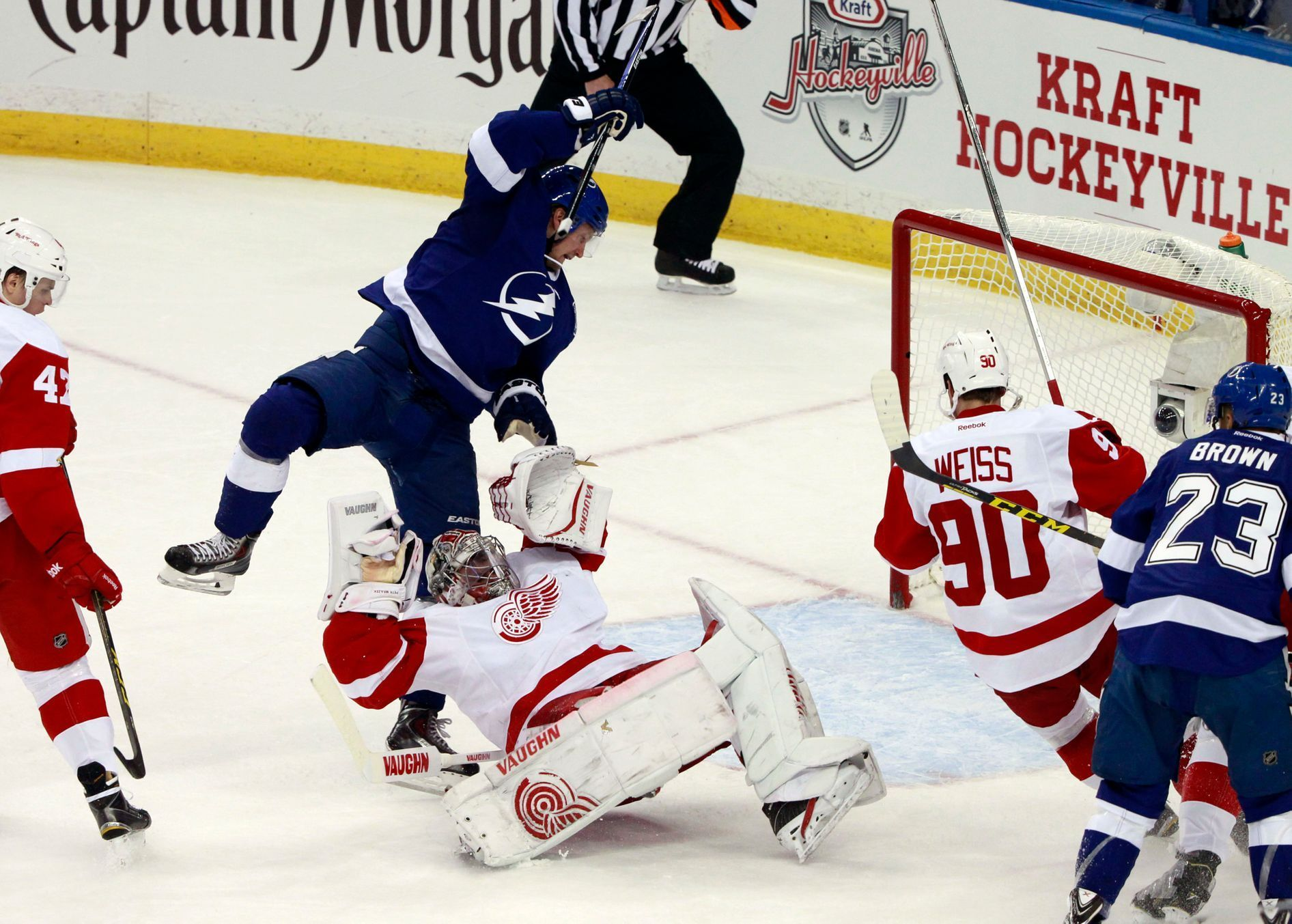 NHL: Stanley Cup Playoffs-Detroit Red Wings at Tampa Bay Lightning (Petr Mrázek)