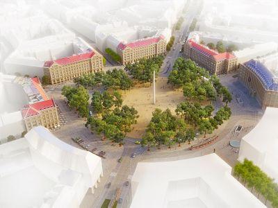"""Praha vybrala nový vzhled Vítězného náměstí. Podívejte se, jak se má """"Kulaťák"""" změnit"""