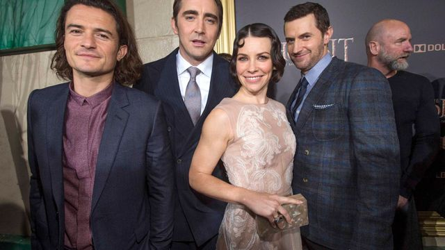 Orlando Bloom, Lee Pace, Evangeline Lilly a Richard Armitage