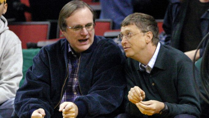 Paul Allen (vlevo) a Bill Gates.