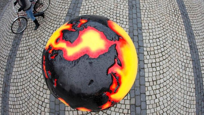 The planet on fire in the streets of Copenhagen
