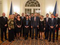 Prezident Zeman uspořádal adventní večeři pro Babišovu vládu. Bude to tradice, tvrdí