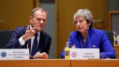 Donald Tusk a Theresa Mayová.