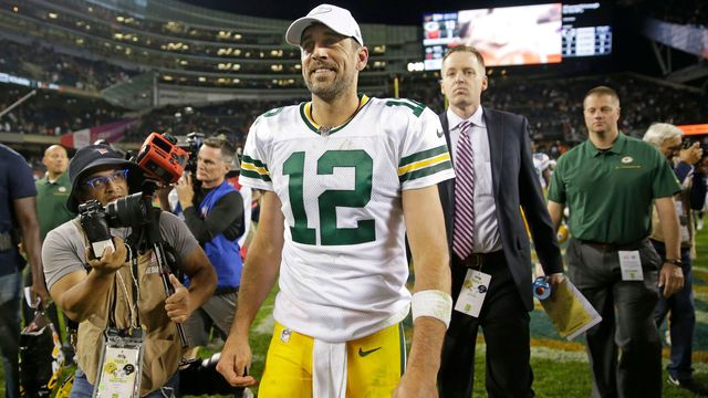 Aaron Rodgers, quarterback týmu NFL Green Bay Packers