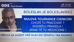 Dusno from Boleslav. The mayor attracts voters to zero tolerance for foreigners