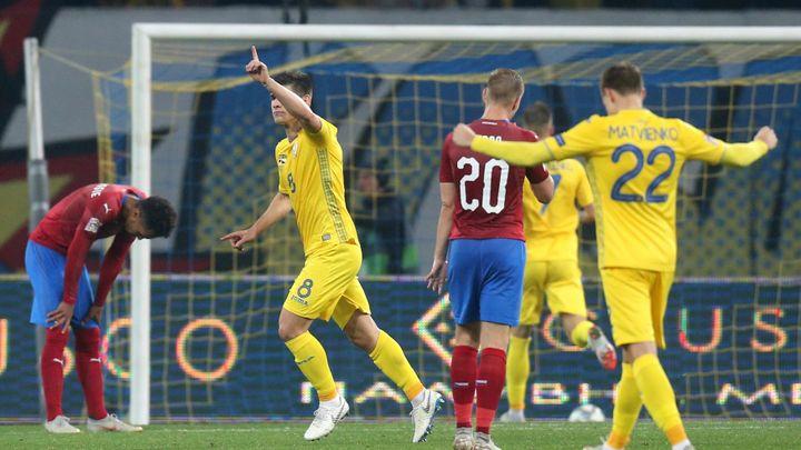 Postup se nekoná. Čeští fotbalisté na Ukrajině bojovali, ale prohráli 0:1