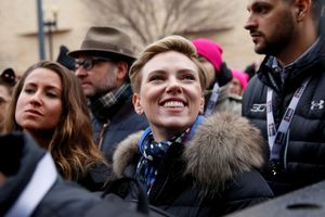 Washington demonstrace za práva žen a proti Trumpovi Scarlett Johansson