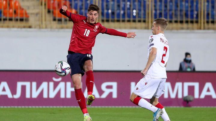 Naděje na druhé místo ve skupině žije. Čeští fotbalisté vyhráli nad Běloruskem; Zdroj foto: Reuters