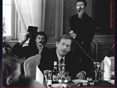 A scene from the film Citizen Havel -
