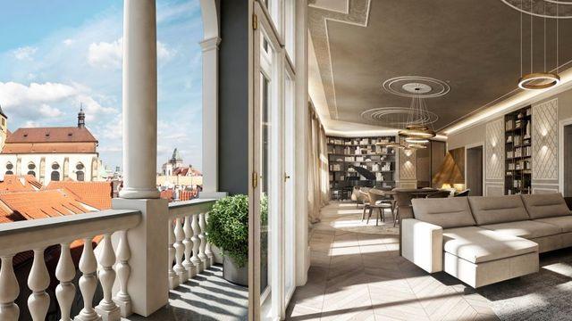 e1f94bc38 Foto: Nejluxusnější byty v Praze. Podívejte se, na co firma láká zájemce o  bydlení za 250 milionů