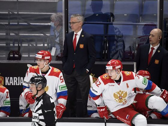 Trenér ruské juniorské hokejové reprezentace Igor Larionov (Karjala Cup 2020).
