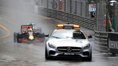 F1, VC Monaka 2016: Safety Car a  Daniel Ricciardo, Red Bull