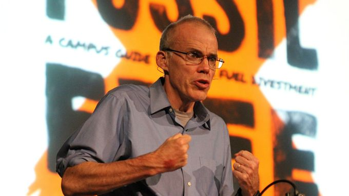 Bill McKibben o klimatu píše do Guardianu nebo New York Times.