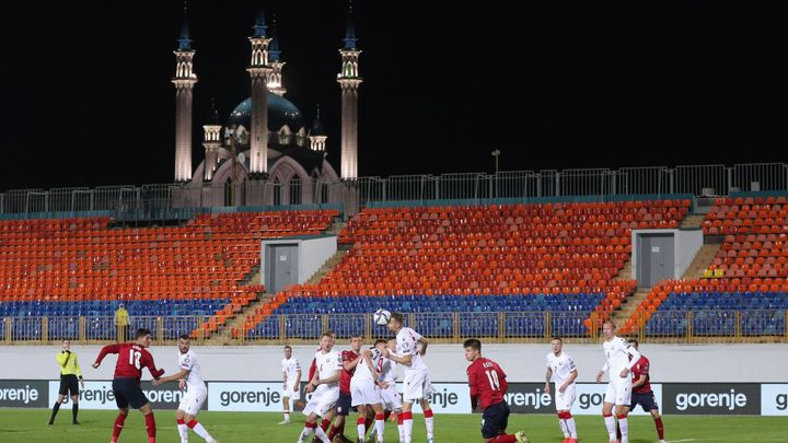 Tři body z prázdné Kazaně, tak Češi přehráli fotbalisty Běloruska; Zdroj foto: Reuters