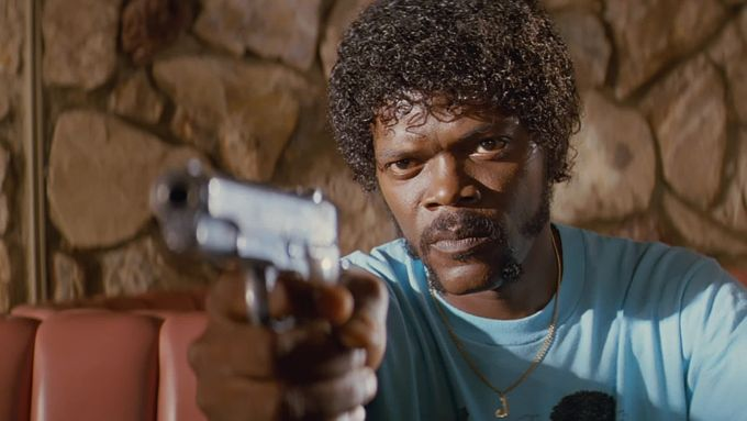 Samuel L. Jackson jako Jules ve filmu Pulp Fiction
