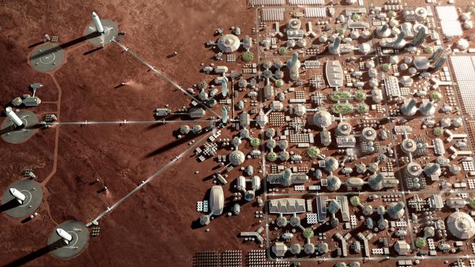 Muskova vize osidlování Marsu.