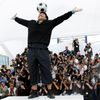 FILE PHOTO: Argentine great Diego Maradona balances a ball on his head during an event at the 61st Cannes Film Festival on the French Riviera