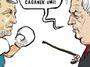 Kresba: Zápas bez pravidel, prezidentský ring volný
