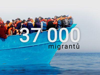 """Grafika: Zoufalá """"plavba smrti"""" přes moře. Tudy do Evropy plují tisíce uprchlíků, umírají ve vlnách"""