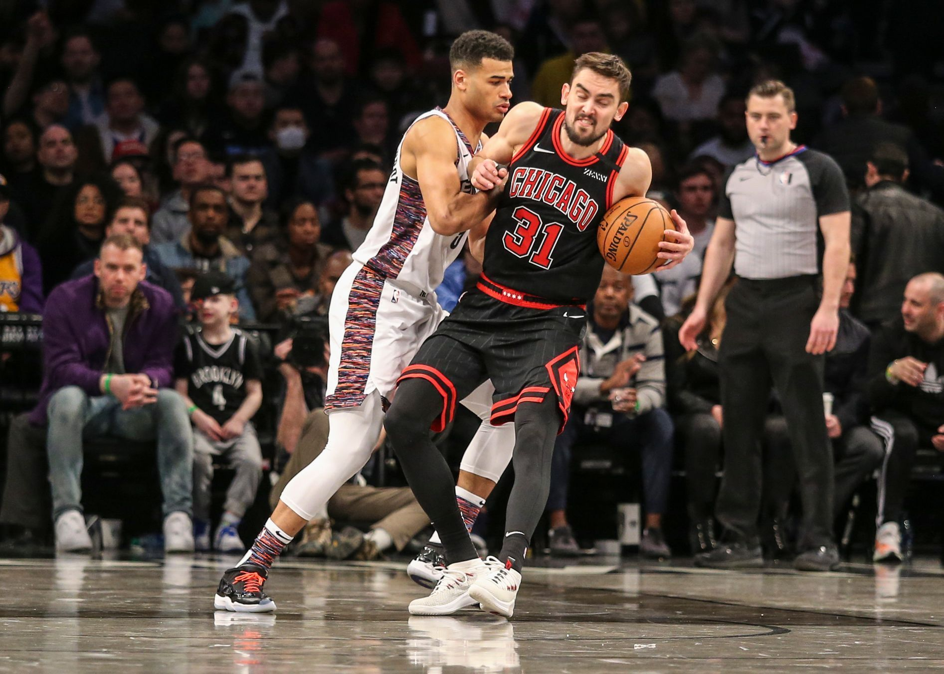 basketbal, NBA 2019/2020, Brooklyn - Chicago, Tomáš Satoranský