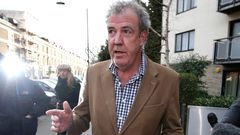 British television presenter Jeremy Clarkson leaves his home in London