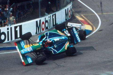 VIDEO: Michael Schumacher a Damon Hill, 1994