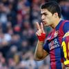 Barcelona's player Luis Suarez celebrates a goal against Cordoba during their Spanish First division soccer match in Barcelona