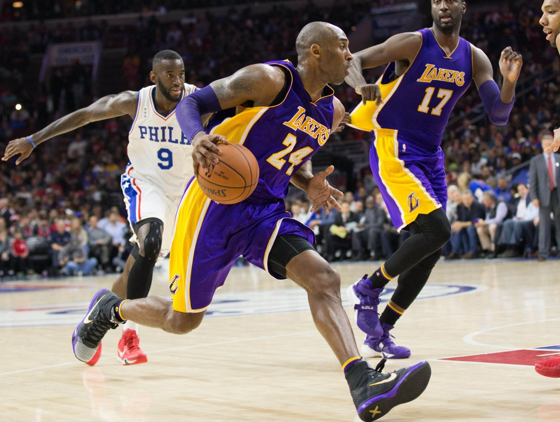 NBA: Los Angeles Lakers at Philadelphia 76ers (Kobe Bryant)