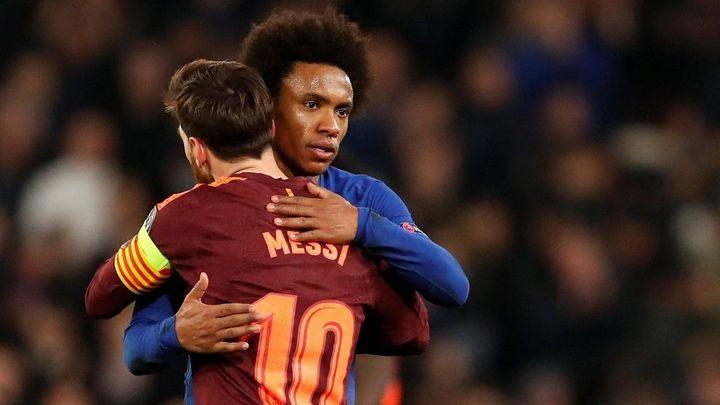 Barcelona přežila Willianovo řádění, Messi prolomil prokletí. Bayern deklasoval Besiktas