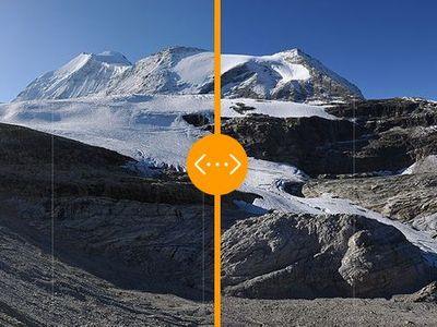 Alpské ledovce mizí před očima. Srovnejte si, jak tající voda mění ráz horské krajiny
