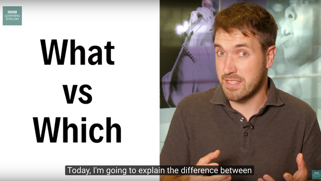 What vs Which : English In A Minute