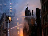 Na Manhattanu vyhořela pravoslavná katedrála, ze 160 let starého chrámu zbyly jen zdi