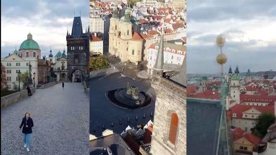 Štáb Rusky Darjy Grigorovové pourušuje český zákon, s kamerou připevněnou na dronu létá bez povolení v zakázané zóně Pražského hradu.