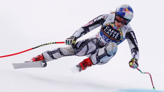 Alpine Skiing - FIS Alpine Skiing World Cup Finals - Women's Downhilll - Grandvalira, Soldeu, Andorra - March 13, 2019 - Ester Ledecka of the Czech Republic in action. RE