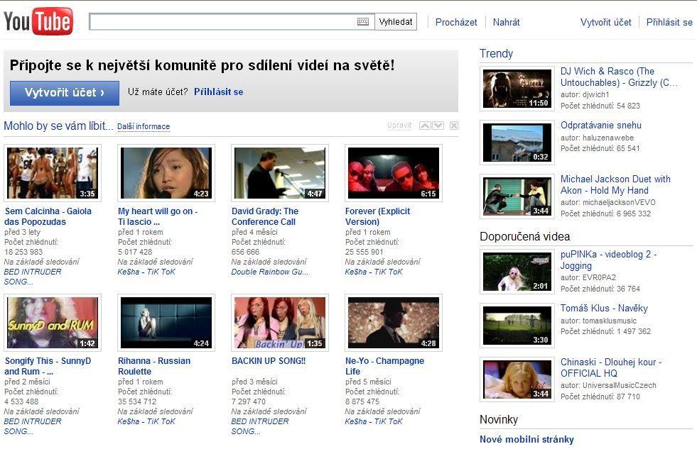 YouTube - úvodní stránka - Aktuálně.cz 8971c2096f